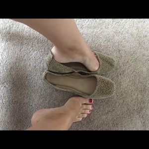 Well worn used stinky shoes flats